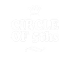 Circle of Fifths dark Sticker
