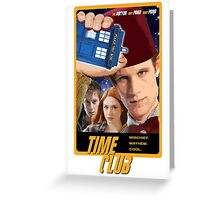 Time Club   Doctor Who   The Eleventh Doctor & Amy Pond & Rory Pond   Fez Greeting Card