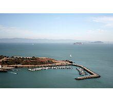 View from Golden Gate bridge San Francisco CA Photographic Print