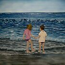 """Beach Kids"" - Oil Painting by Avril Brand"