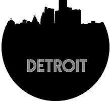 Detroit Skyline Circle by SasquatchBear