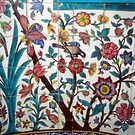 Floral mosaic on Madrese-e Khan by cascoly