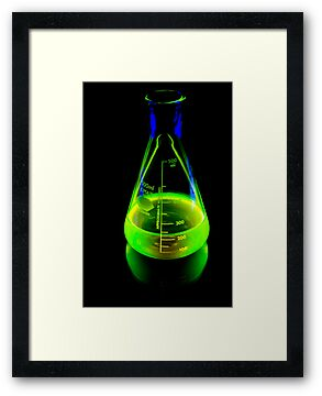 Beaker of  Sodium Fluorescein by Douglas Gaston IV