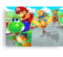 mario racing Canvas Print