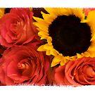 Sunflower & Roses by blackjack