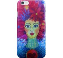red hair white witch art iPhone Case/Skin