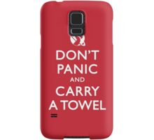 Don't Panic and Carry a Towel Samsung Galaxy Case/Skin