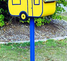 Caravan Mailbox by Marilyn Harris