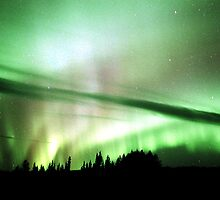 Alaska Highway Lights by peaceofthenorth