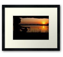 The ultimate sundowner Framed Print