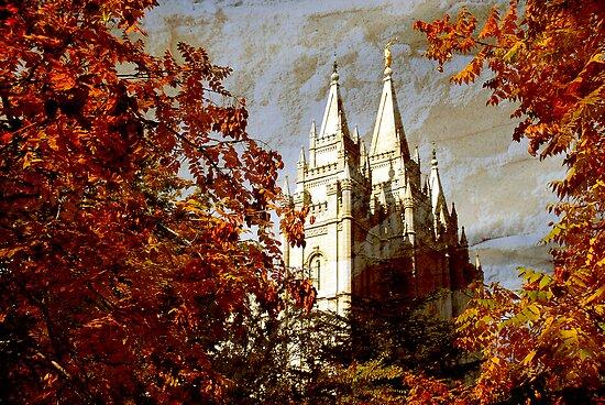 Salt Lake Temple - Autumn Season by Ryan Houston