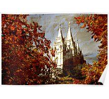 Salt Lake Temple - Autumn Season Poster