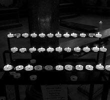 Candles in BW by Shekhar