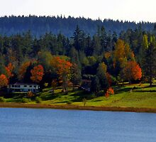 Autumn on Lake Campbell by Rick Lawler
