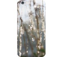 Sparkling ice crystals on weeping willow iPhone Case/Skin