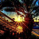 Sunset at Damon's Restaurant by imagetj