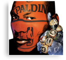 Winning, Michael Jordan Earth Fist, Motivational Canvas Print