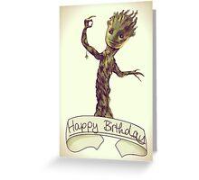Dancing Groot - Birthday Card  Greeting Card