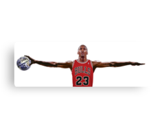 Michael Jordan Nike Wings, Earth Ball Space Jam Canvas Print