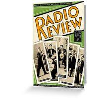 Radio Review Greeting Card