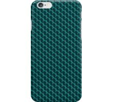 Teal Ribbon Tiled Pattern iPhone Case/Skin