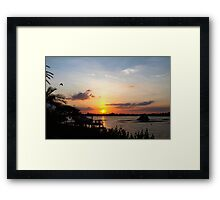 Dock on the bay Framed Print