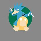 Golduck - Psyduck Duo by lomm