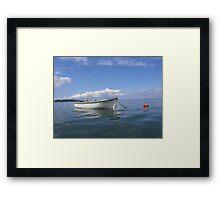 Floating In Blue & White Framed Print