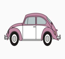 Vw Beetle T Shirt Pink Kids Clothes