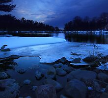 Blue Hour on the Wisconsin River by Benjamin Tatrow