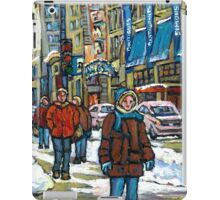 BEST CANADIAN PAINTINGS DOWNTOWN WINTER SCENES MONTREAL iPad Case/Skin