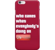 Grand Theft Auto Life Invader Design iPhone Case/Skin