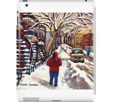 CANADIAN PAINTINGS MONTREAL WINTER CITY SCENE iPad Case/Skin