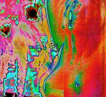 Margaritaville Mermaid Pyschedelicized by Habenero