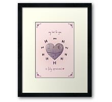 The Love Star Framed Print