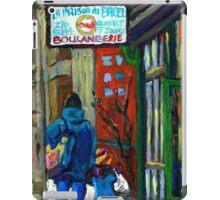 MONTREAL BAGEL SHOPS CANADIAN ART WINTER CITY SCENE iPad Case/Skin