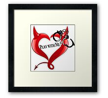 Devil Heart and Handcuffs Framed Print