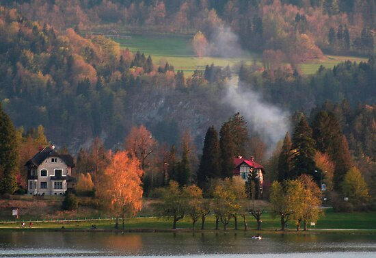A pretty scene at Lake Bled, Slovenia by Elana Bailey