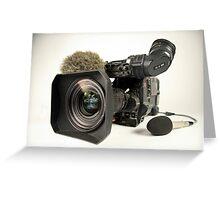 Panasonic professional video camera Greeting Card