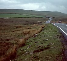 Driving through Yorkshire Dales Cumbria England 198406010001m by Fred Mitchell