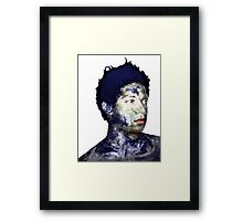 Warhol Polaroid Earth Basquiat Africa Europe King Of the World Framed Print