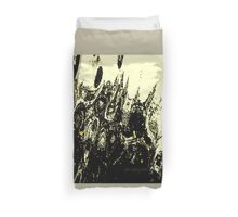 Monsters In Batman Costumes Duvet Cover