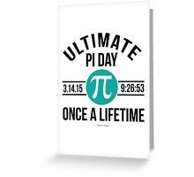 Ultimate Pi Day 2015 Aqua Greeting Card