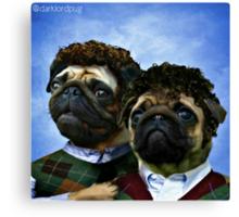 step pugs Canvas Print