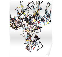 Digital Artwork Triangles Poster