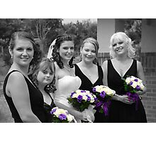 Bridesmaids Selective in Colour Photographic Print