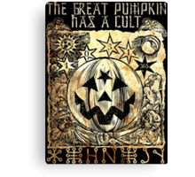 Cult of the Great Pumpkin: Sun, Moon & Angels Canvas Print