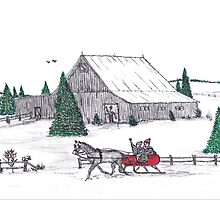 A Christmas barn by Samohsong