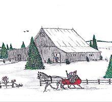 A Christmas barn by Samohsong