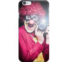 Clown Paparazzi Taking Photograph At Red Carpet Event iPhone Case/Skin